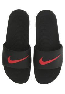 Chinelo Nike Kawa - Slide - Masculino - Preto/Vermelho
