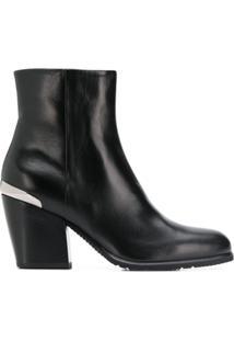 Baldinini Ankle Boot Com Salto Bloco - Preto
