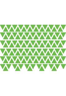 Adesivo De Parede Triângulos Verde Claro 121Un