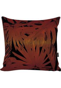 Capa De Almofada Blackred Foliage- Laranja Escuro & Pretstm Home