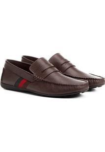 Mocassim Couro Shoestock Gorgurão Masculino - Masculino