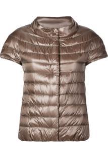 Herno Shortsleeved Padded Jacket - Marrom