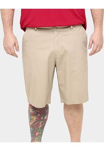 Bermuda Bluebay Sarja Bolso Faca Color Plus Size Masculina - Masculino
