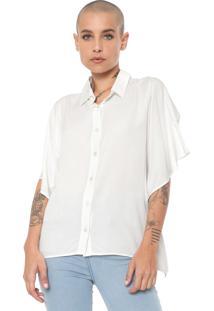 Camisa Colcci Recortes Off-White