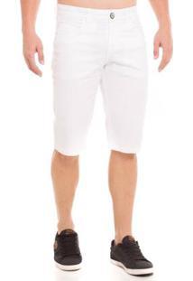 Bermuda Jeans Osmoze Middle Plus Masculina - Masculino-Branco