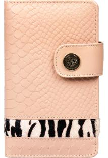 Carteira Arlux Animal Print Nude