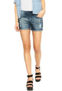 ... Short Jeans Hurley Cut Off Azul bde1829c59a