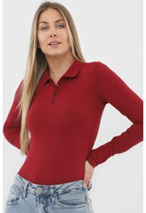 Camisa Polo Malwee Lisa Vinho - Kanui