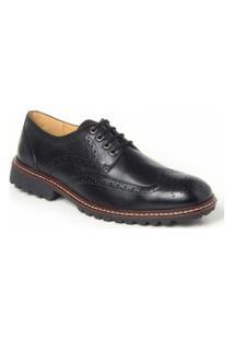 Sapato Social Derby Polo State - Masculino-Preto