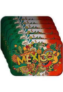 Jogo Americano - Love Decor Mexico Kit Com 6 Peças