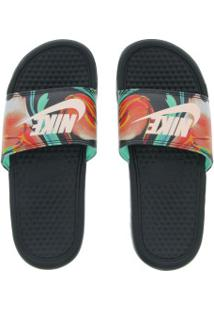 Chinelo Nike Benassi Jdi Print Slide Feminino Pretoverde Cla