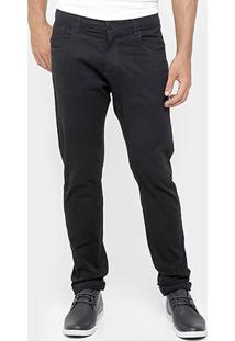 Calça Rockblue Skinny Sarja Color Black - Masculino