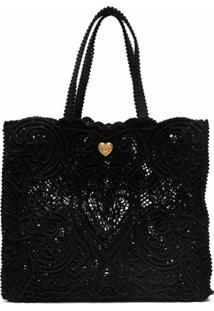 Dolce & Gabbana Bolsa Tote Beatrice Grande - Preto