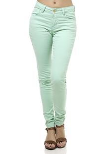 Calça De Sarja Feminina Verde - Feminino