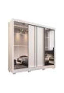 Guarda-Roupa Casal Com Espelho Portinari 4 Pt 6 Gv Branco