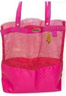 Bolsa Tote Shopper Praia Ombro Impermeável Ana Viegas Bolsas Feminina - Feminino-Pink