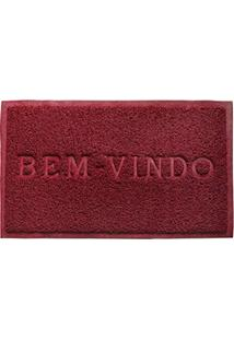 Capacho Bem Vindo Pvc 60X40 Vermelho - Camesa