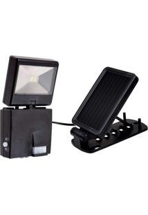 Luminária Solar Com Sensor Ecoforce 15560 Preto