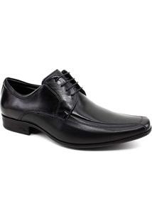 Sapato Social Jotape Air King Couro Masculino - Masculino-Preto