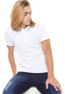 Camisa Polo Sommer Reta Básica Branca