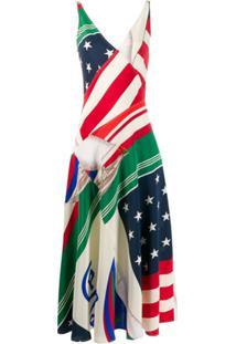 Polo Ralph Lauren Vestido Com Estampa De Bandeira - Vermelho