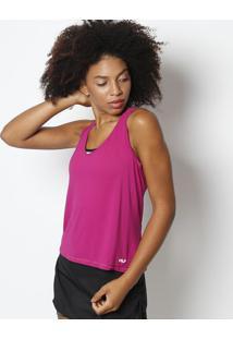 Regata Nadador Maquinetada Com Flow®- Pink & Brancafila