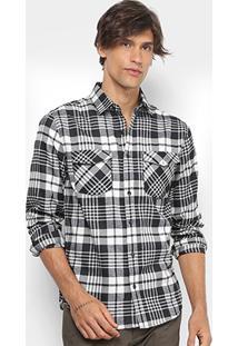 Camisa Xadrez Broken Rules Flanelada Masculina - Masculino
