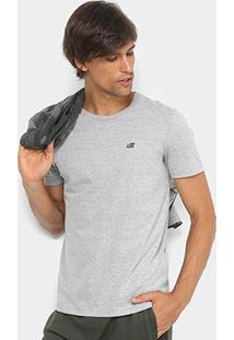 Camiseta Ellus 2Nd Floor Básica Logo Masculina - Masculino-Mescla