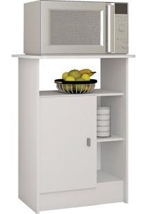 Armário De Cozinha Para Micro Ondas Gramado 1 Pt Branco