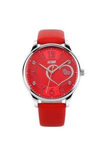 Relógio Skmei Analógico 9085 Vermelho