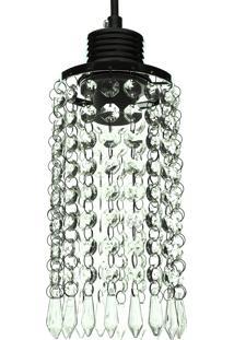 Lustre Pendente Diamante 1060/1 Transparente Redondo 40W Bivolt