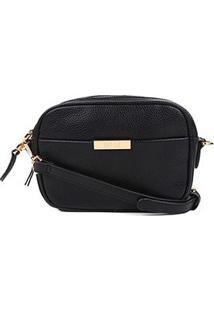 Bolsa Santa Lolla Mini Bag Transversal Divisória Feminina - Feminino-Preto