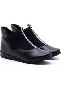 Ankle Boot Comfortflex Snake Preta 36