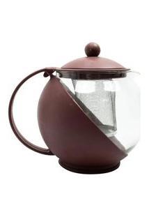 Cafeteira Chaleira Infusão Multifuncional Vidro Café Chá Inox 1.250 Ml