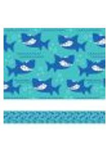 Adesivo De Parede Faixa Decorativa Infantil Tubarão 5Mx10Cm