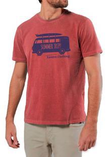 Camiseta Masculina Sandro Clothing Kombi Vermelha Estonada