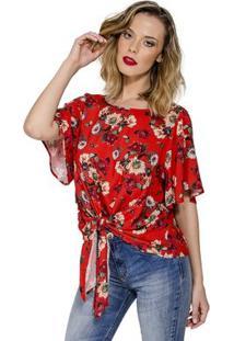 5eec522c7 ... Blusa Estampa Floral Colcci - Feminino-Vermelho