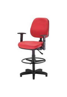 Cadeira Corporate Executiva Cor Vermelho Com Base Caixa - 43948 Vermelho