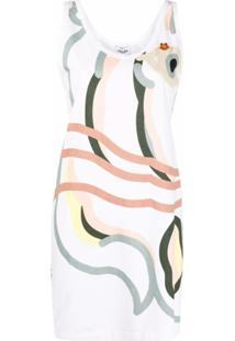 Kenzo Vestido K-Tiger Com Estampa - Branco