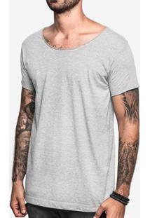 Camiseta Hermoso Compadre Mescla Escuro Gola Canoa - Masculino-Cinza