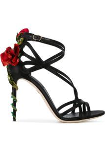 Dolce & Gabbana Sandália 'Jewel Keira' - Preto