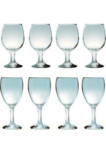 Kit 4 Taças Para Vinho Tinto 245 Ml E 4 Taças Para Água 300 Ml Sture Móveis - Kanui