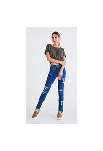 Calça Jeans Express Skinny Priscila Azul