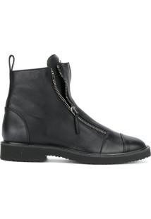 Giuseppe Zanotti Ankle Boot 'Jerome' De Couro - Preto
