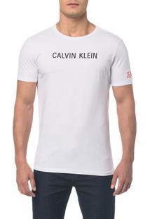 Camiseta Ckj Mc Est Peito E Manga Branco 2 - Branco 2 - Ggg