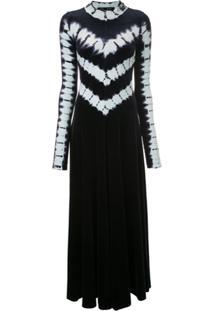 Proenza Schouler Vestido Longo Tie Dye De Veludo - Preto