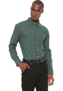Camisa Hering Reta Botonê Verde