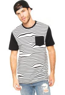 Camiseta Mcd Listrado Irregular Bege