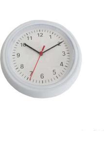 Relógio De Parede Em Plástico Rd240H-B Branco E Preto Coisas E Coisinhas