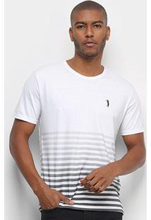 Camiseta Aleatory Listra Masculina - Masculino-Branco